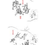福崎町観光協会様よりご依頼頂き、鳥獣人物戯画風にガジロウのイラストを制作致しました。