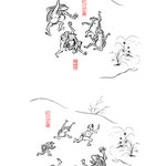 福崎町観光協会様よりご依頼頂き、鳥獣人物戯画風にガジロウのイラストを制作致しました。We received a request from the Fukusaki Tourism Association and created an illustration of Gazirou in the style of caricature of birds and beasts.
