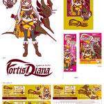 店舗用にキャラクターデザインをはじめ、看板・チラシ・のぼり・スタンプカード等を制作しました。