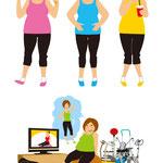 ダイエット企画の冊子用に挿絵を制作させて頂きました。I made an illustration for a diet plan booklet.