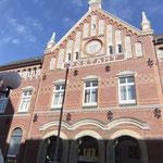 Das alte Postgebäude, nicht weit von unserer Ferienwohnung auf Norderney Urlaub