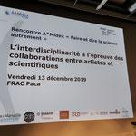 FRAC Marseille A*Midex meeting, presentation Dear Cell by Regina Huebner