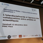 A*Midex meeting at FRAC Marseille, presentation Dear Cell by Regina Huebner