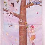 星にとどく木 Tree that reaches star/183.0×73.0cm/2006