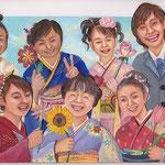 いのちいっぱい自分の花を a flower of a life one self/16.0×22.5cm/2009