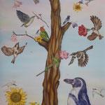 鳥の木/145.5×89.4cm/2019