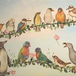 小鳥のワルツ Waltz of birds/32.0×41.0cm/2009