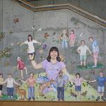 こんにちはこんにちはごっこ Hello game/女子美術大学 1号館壁面/2010