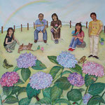 心は紫陽花の花/91.0×91.0cm/2008