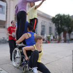 DanceAbility Performance im Museumsquartier Wien; DanceAbility Teacher Certification 2014 (Foto Gilbert)