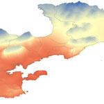 Profil climatique du Pradet, 2018, réalisation GeographR
