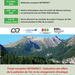 Communication des résultats du projet européen MITIMPACT par GeographR, octobre 2020