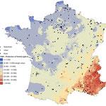Estimation de l'AOT40 à l'échelle nationale (résolution 200 m), publication scientifique, GeographR