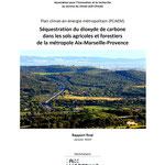 Etude sur la séquestration du dioxyde de carbone dans les sols agricoles et forestiers de la métropole Aix-Marseille-Provence, GeographR, 2019