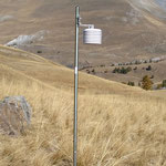 Installation de capteurs météo dans le Parc national du Mercantour, projet européen MITIMPACT,