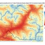 Modélisation du climat présent et futur des Alpes du Sud (exemple de l'Embrunais), 2015, réalisation GeographR