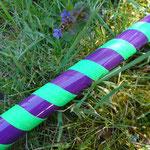 """Aubergine"": glossy lilac + neon green"