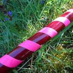 glossy burgund + Gaffa neon pink