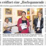 Schwäbische Zeitung HOCHspannung crossart international at rickisworkshop