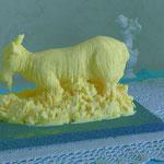 Chèvre sculptée en beurre