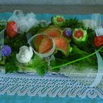 centre de table Orchidées commandé par l'OTI de Fruges - 55 €