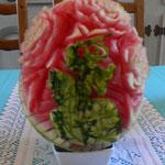 Sire de Créquy sculpté sur une pastèque - 50 €