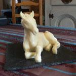 Cheval sculpté en beurre