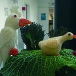 sculpture d'animaux en radis blanc et  rutabaga - 15 € la pièce