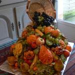 Cascade de fruits sculptés - 80 €