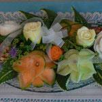 Centre de table orchidée en melon - 55 €