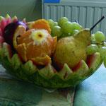 Corbeille de fruit en pastèque - 50 €