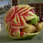 Corbeille de fruits en pastèque - 60 €