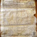Die Urkunde von 1476, als die Zermatter ihr Territorium aufteilten (Burgerarchiv, Signatur BB 25, Pergament 35.8 breit, 38.5 hoch. Foto W.B. 2021).