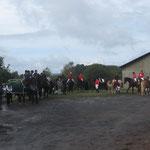 Pferdegottesdienst: Die Teilnehmer mit Pferd 1