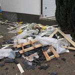 Hier der Abfall von der Hausmontage, welcher von uns entsorgt werden muss.