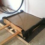 Um die Heizung im Keller vor dem Estrich aufstellen zu können, haben wir ein entsprechendes Podest  in Höhe des Estrichs gebaut.