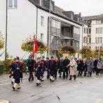 Marsch von der Kirche zur Landihalle