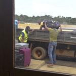 Gepäcktransport zum Propeller