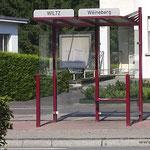 Wir haben nicht auf den Bus gewartet, war aber trotzdem der Startpunkt, Piste cyclable de la Wiltz (PC 20)