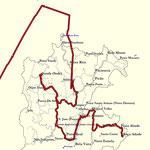 Track; Anflug, zur Roça Sundi und zur Roça Abade