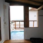 Ausgang zum Balkon, Casa da Pedra in Raposeira