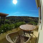 Terrasse vorne, Apt. Hortas bei Zavial, Haus A