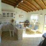 Wohnraum mit Kitchenette, Apt. Hortas, Haus A