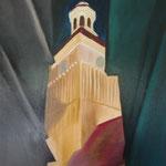 Nicolaikirche, Berlin-Spandau (Öl + Acryl/Leinwand, 70 x 50 cm)