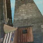 großer Turm (Röderturm, Rothenburg/T.) (Öl/Leinwand, 70 x 50 cm)