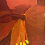 Amarylis für M. (Acryl/Leinwand, 40 x 30 cm)
