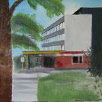 Robert-Rössle-Klinik, Berlin-Buch (Öl/Leinwand, 70 x 50 cm)