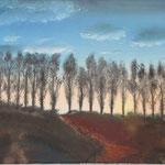 lange Kerls (Öl/Leinwand, 30 x 40 cm)
