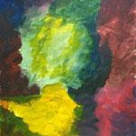 Rückenansicht einer Dame (Acryl/Papier, 50 x 40 cm)