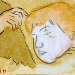 Anna, schlafend (Acryl/Leinwand, 40 x 50 cm)